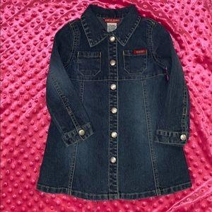Toddler Girl GUESS JEANS LS Denim Dress Size 3T